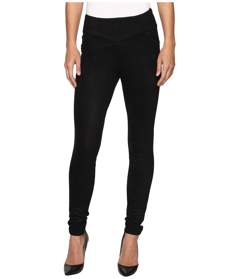 Jag Jeans - Olive Pull-On Skinny Pant in Machine Washable Faux Suede (Black) Women's Clothing