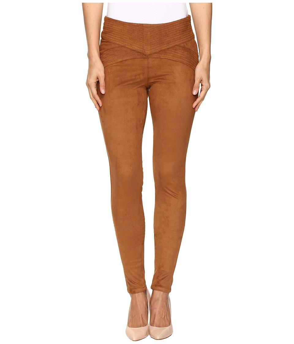 Jag Jeans - Olive Pull-On Skinny Pant in Machine Washable Faux Suede (Saddle Brown) Women's Clothing