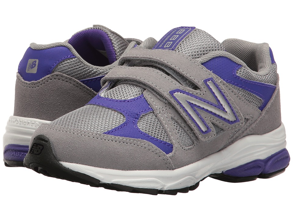 New Balance Kids - KV888v1 (Little Kid) (Grey/Purple) Girls Shoes