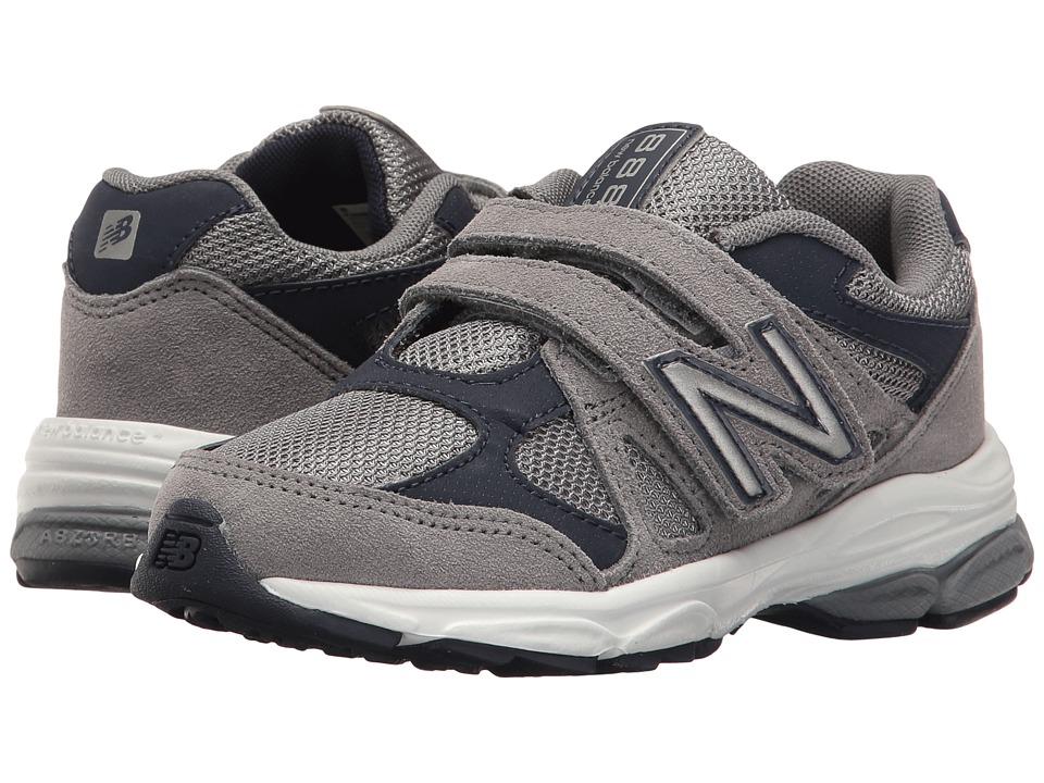New Balance Kids KV888v1 (Little Kid) (Grey/Navy) Boys Shoes