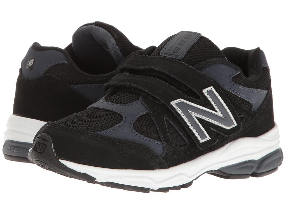 New Balance Kids KV888v1 (Little Kid) (Black/Grey) Boys Shoes