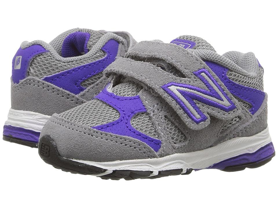 New Balance Kids - KV888v1 (Infant/Toddler) (Grey/Purple) Girls Shoes