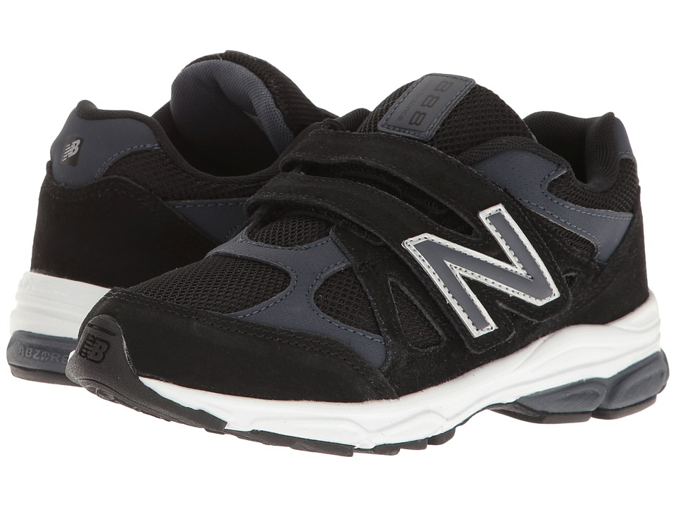 New Balance Kids KV888v1 (Infant/Toddler) (Black/Grey) Boys Shoes