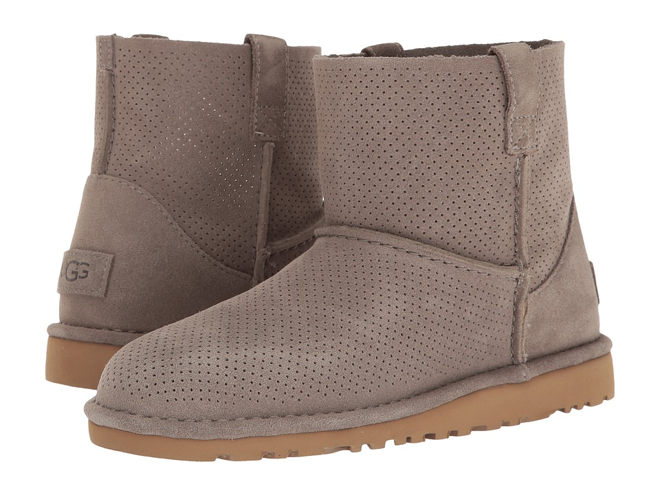 UGG - Classic Unlined Mini Perf (Mole) Women's Boots