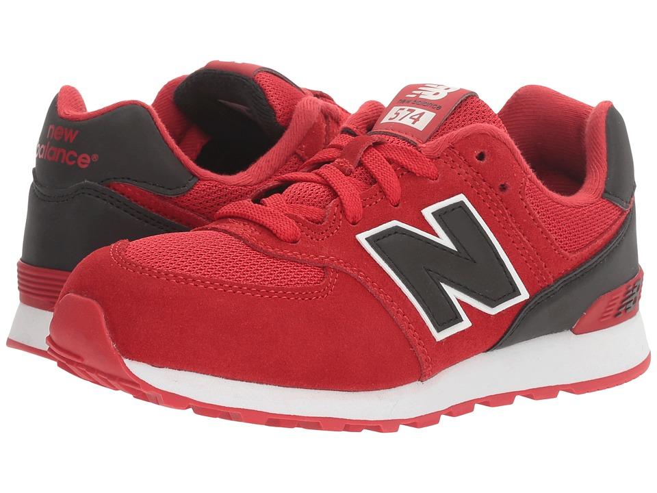 New Balance Kids - KL574v1 (Big Kid) (Red/Black) Boys Shoes
