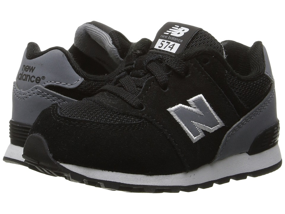 New Balance Kids KL574v1 (Big Kid) (Black/Grey) Boys Shoes