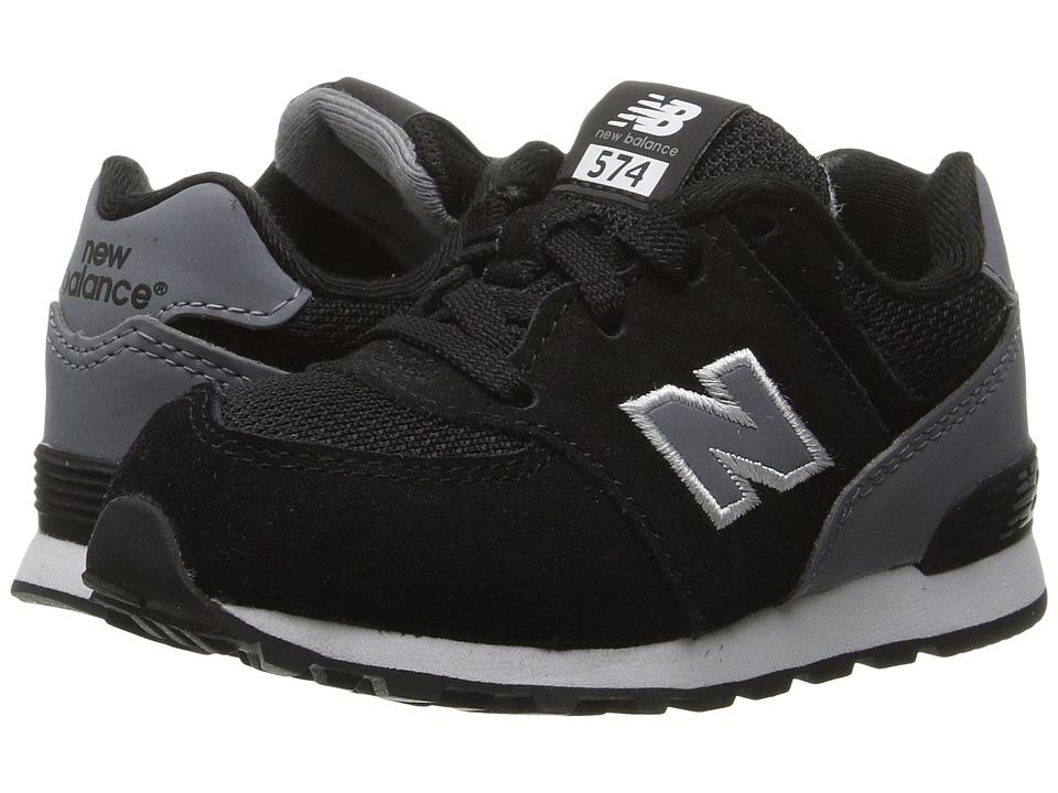 New Balance Kids - KL574v1 (Big Kid) (Black/Grey) Boys Shoes