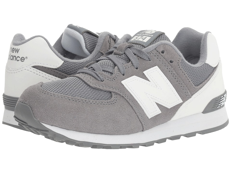 New Balance Kids KL574v1 (Big Kid) (Grey/White) Boys Shoes