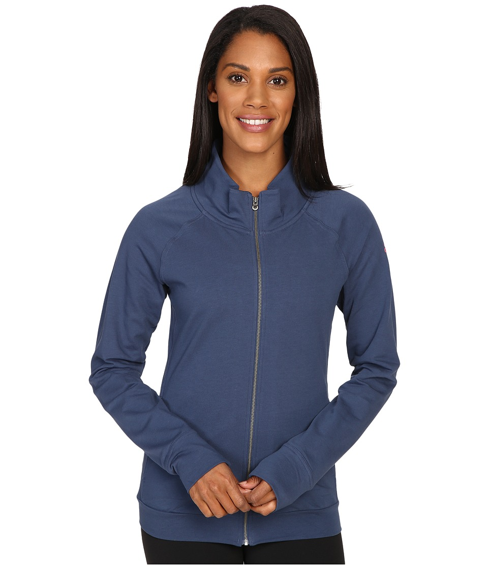 adidas - Adizero Jacket (Mineral Blue/Shock Red) Women's Coat