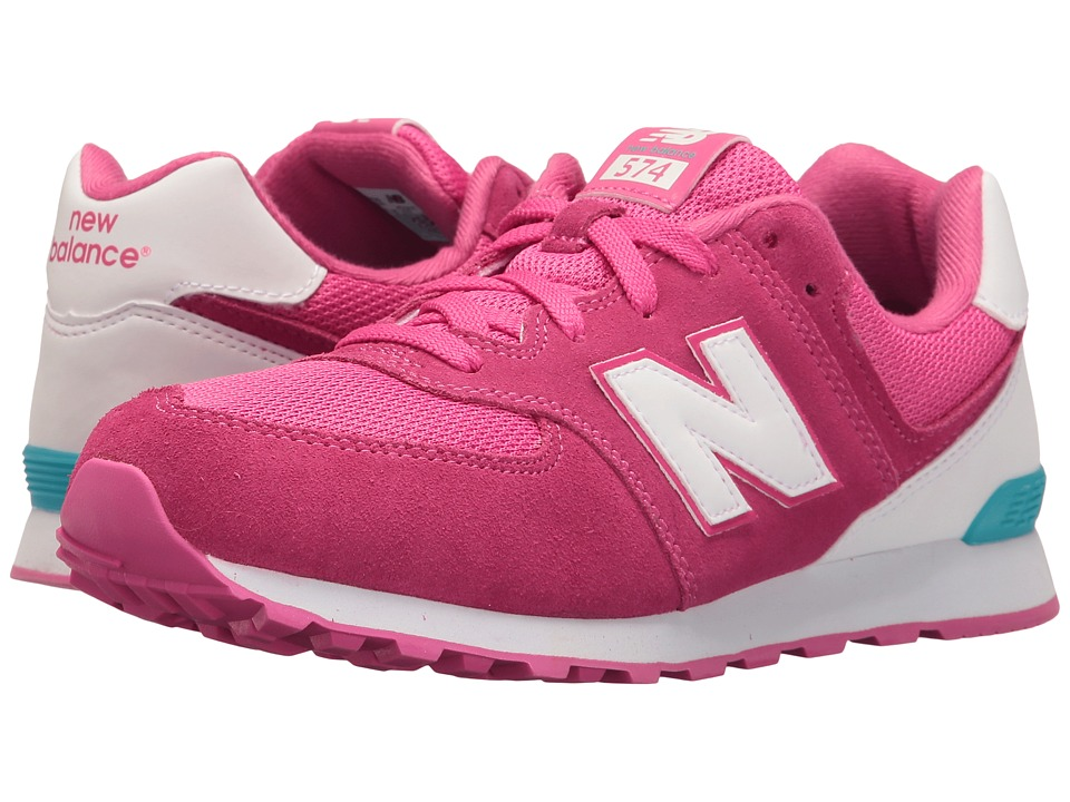 New Balance Kids KL574v1 Reflective (Big Kid) (Pink/White) Girls Shoes