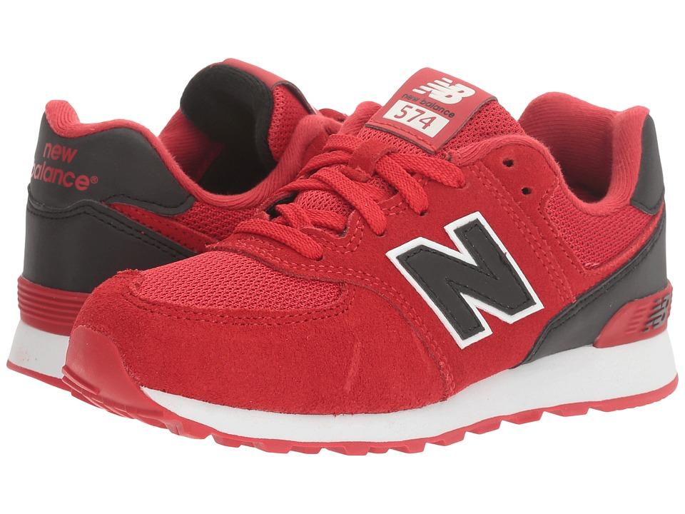 New Balance Kids - KL574v1 Reflective (Little Kid) (Red/Black) Boys Shoes