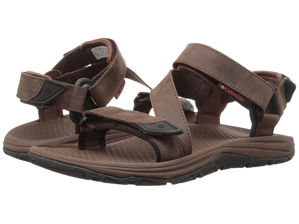 Columbia - Big Water Leather (Tobacco/Super Sonic) Men's Sandals