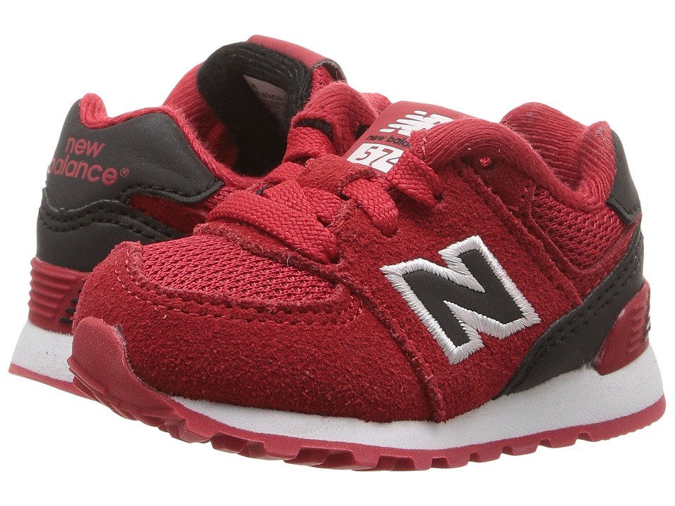 New Balance Kids - KL574v1 Reflective (Infant/Toddler) (Red/Black) Boys Shoes