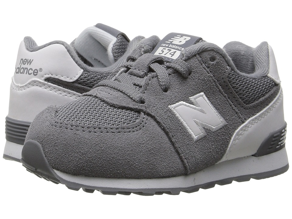 New Balance Kids KL574v1 Reflective (Infant/Toddler) (Grey/White) Boys Shoes