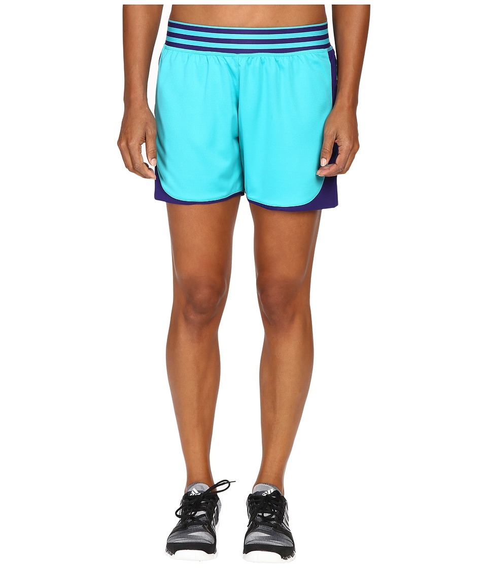 adidas - ADI Field Shorts (Shock Green/Collegiate Purple) Women's Shorts