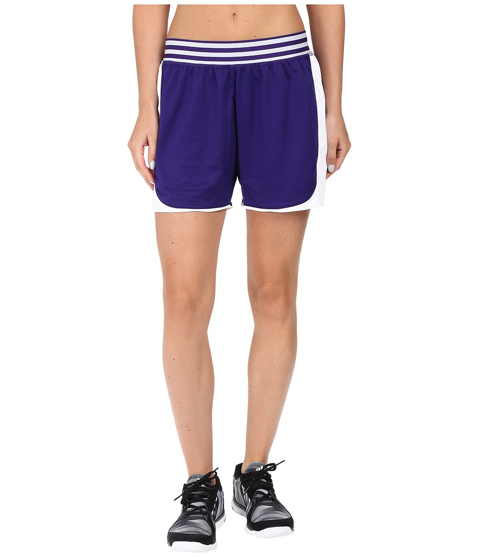 adidas - ADI Field Shorts (Collegiate Purple/White) Women's Shorts