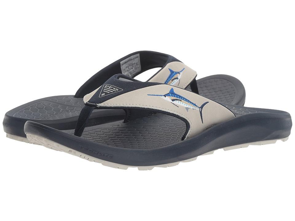Columbia - Fish Flip PFG (Collegiate Navy/Cool Grey) Men's Sandals