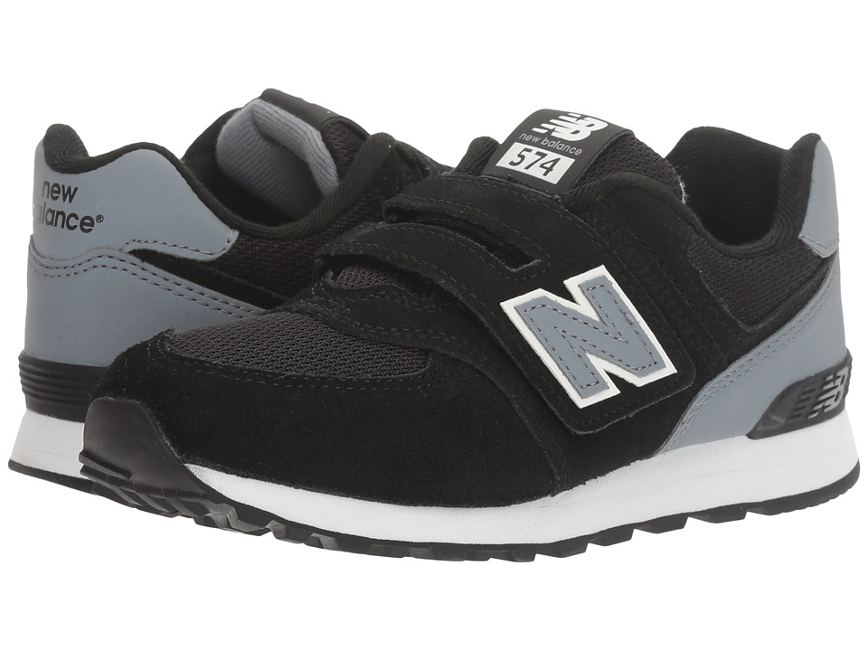 New Balance Kids - KV574v1 Reflective (Little Kid/Big Kid) (Black/Grey) Boys Shoes