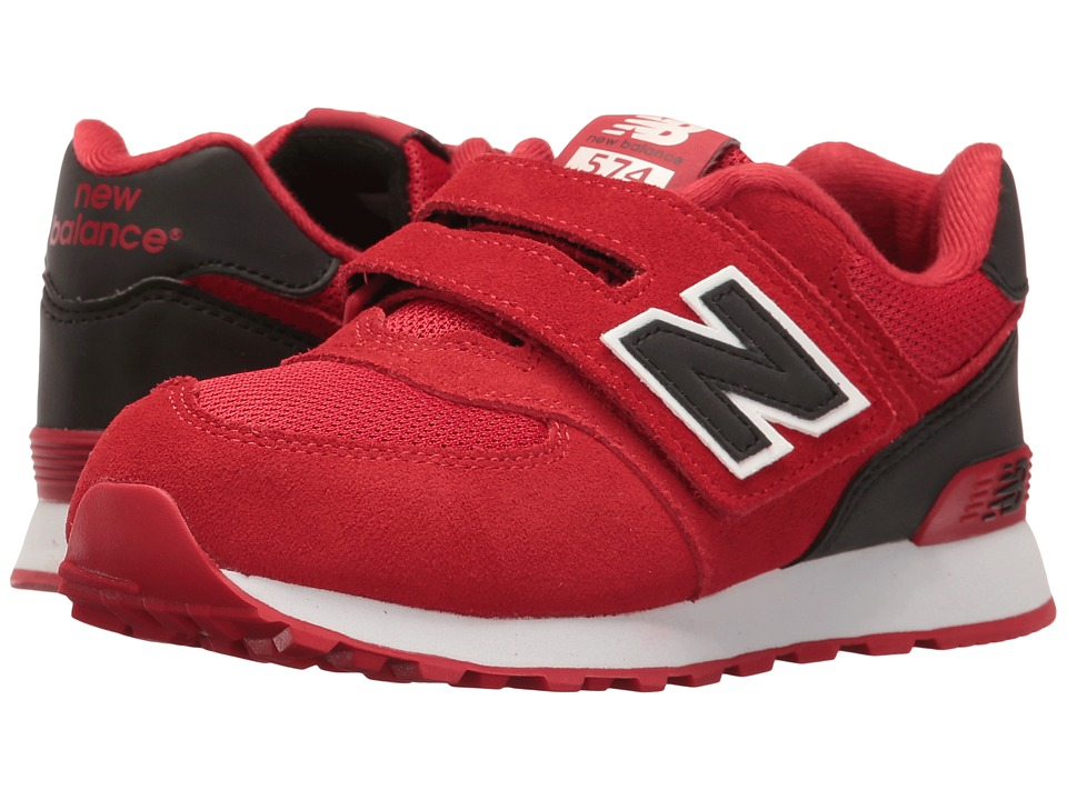 New Balance Kids - KV574v1 Reflective (Little Kid/Big Kid) (Red/Black) Boys Shoes