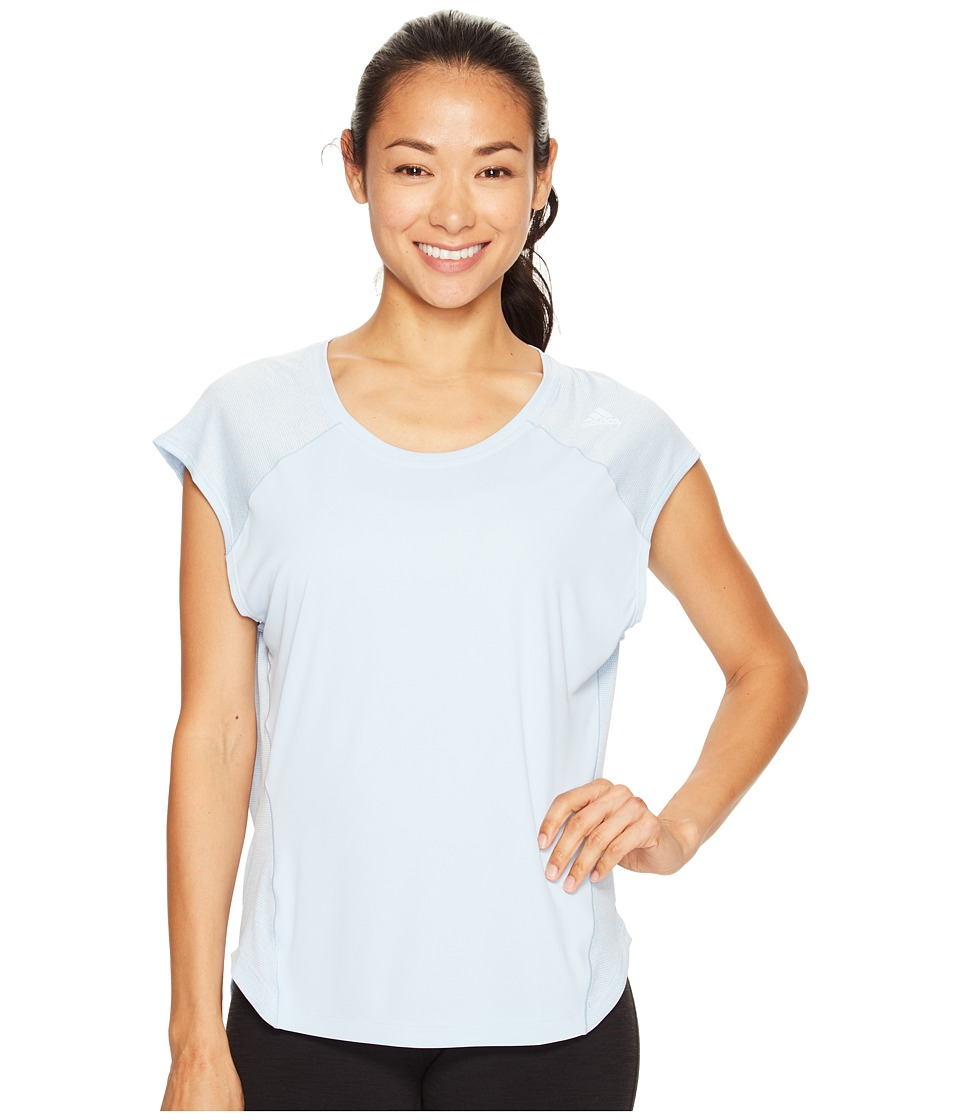 adidas - Tokyo Short Sleeve Tee (Easy Blue S17) Women's Short Sleeve Pullover