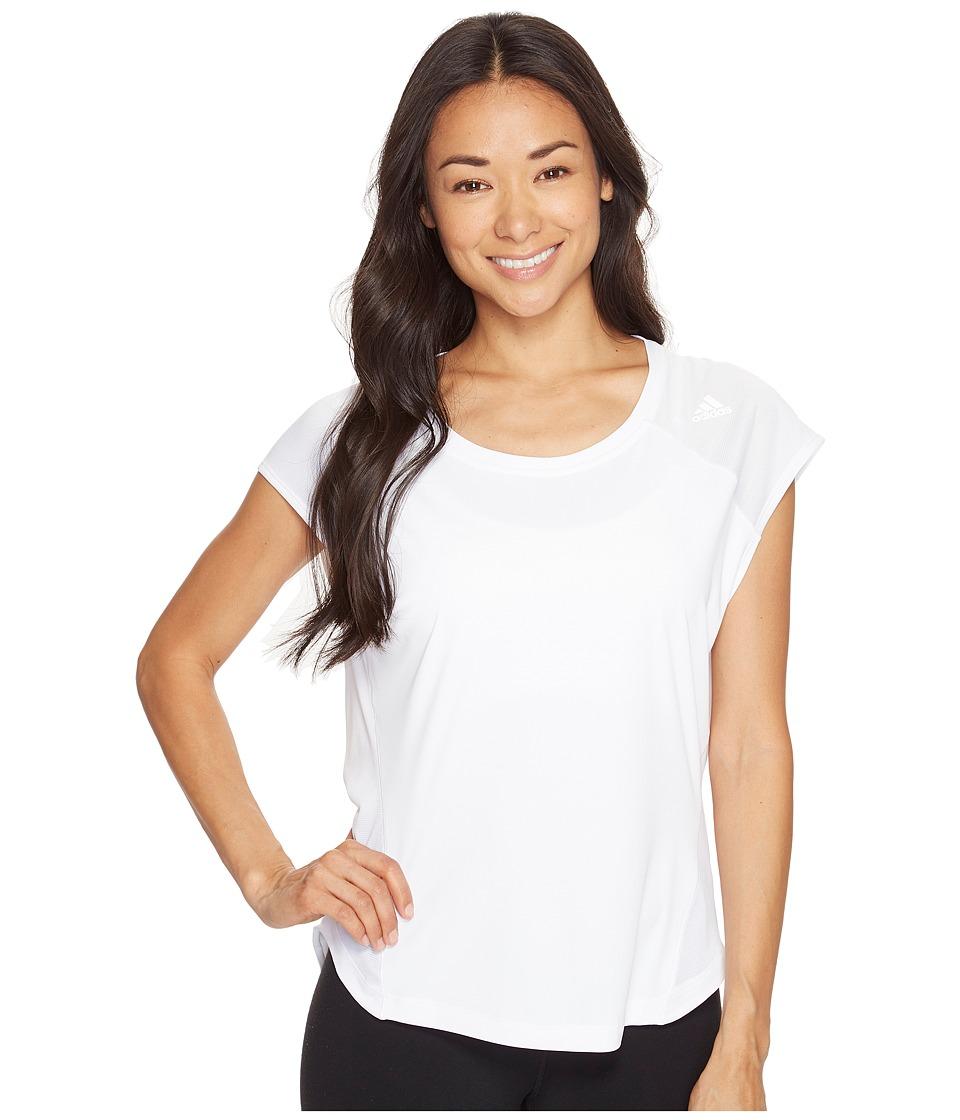 adidas - Tokyo Short Sleeve Tee (White) Women's Short Sleeve Pullover