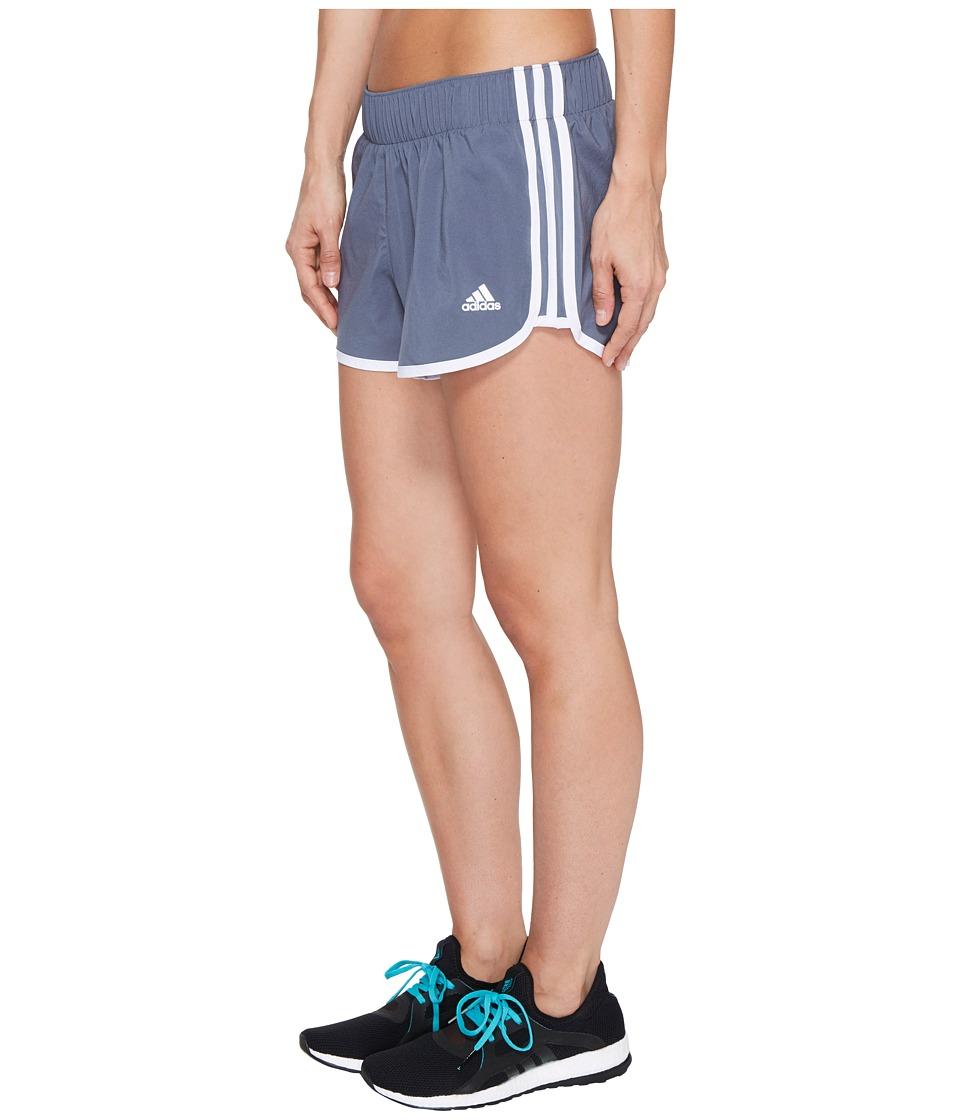 adidas - Woven 3-Stripes Shorts (Onix/White) Women's Shorts