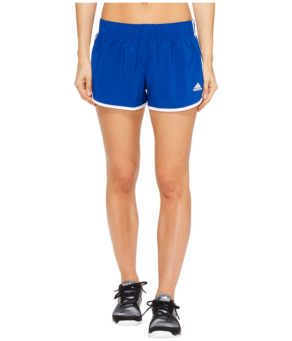 adidas - Woven 3-Stripes Shorts (Collegiate Royal/White) Women's Shorts