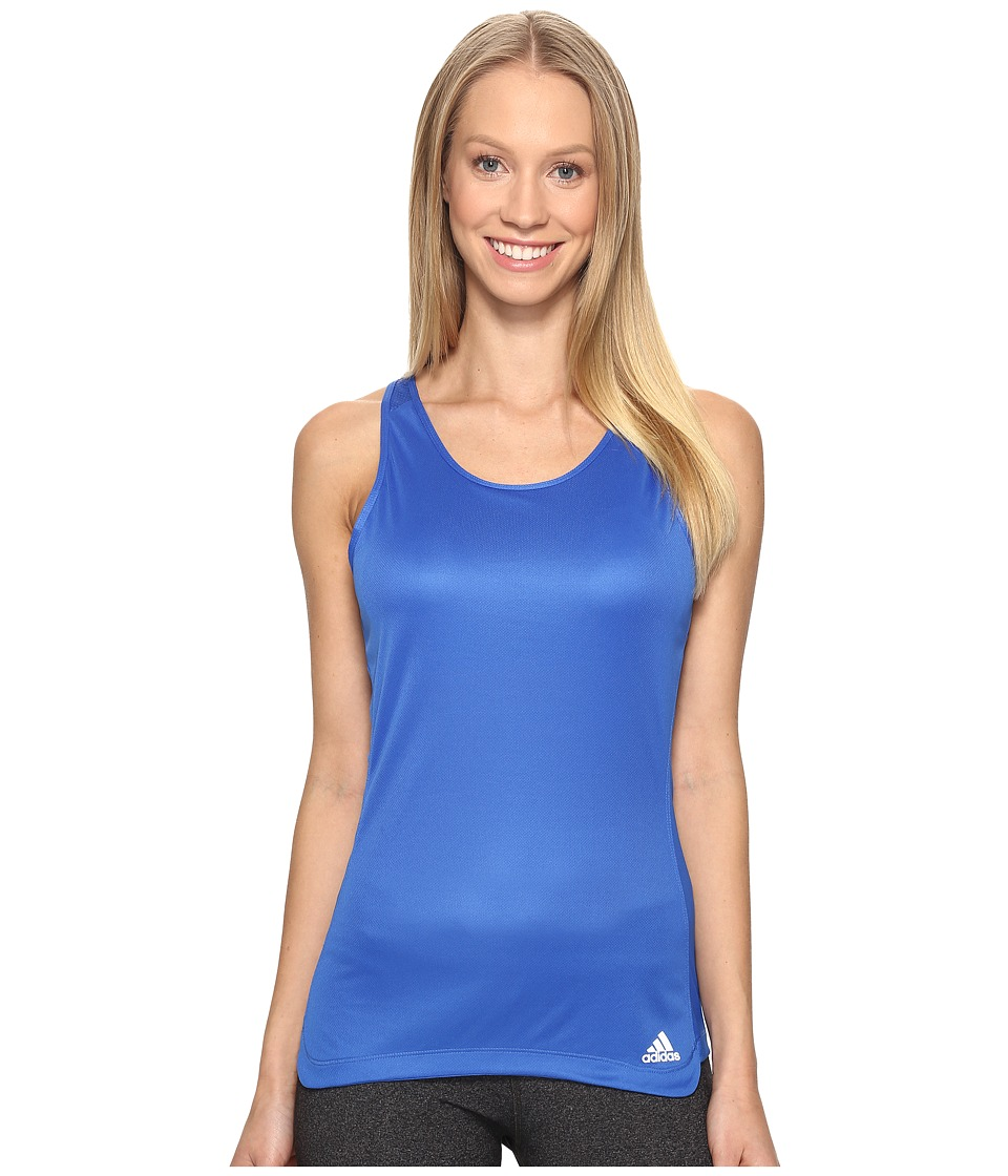 adidas - Response 2-in-1 Cup Tank Top (Blue) Women's Sleeveless