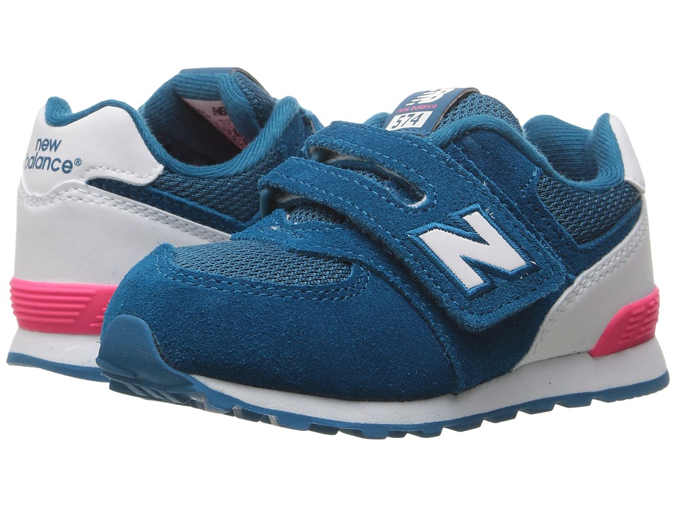 New Balance Kids - KV574v1 Reflective (Infant/Toddler) (Blue/White) Girls Shoes