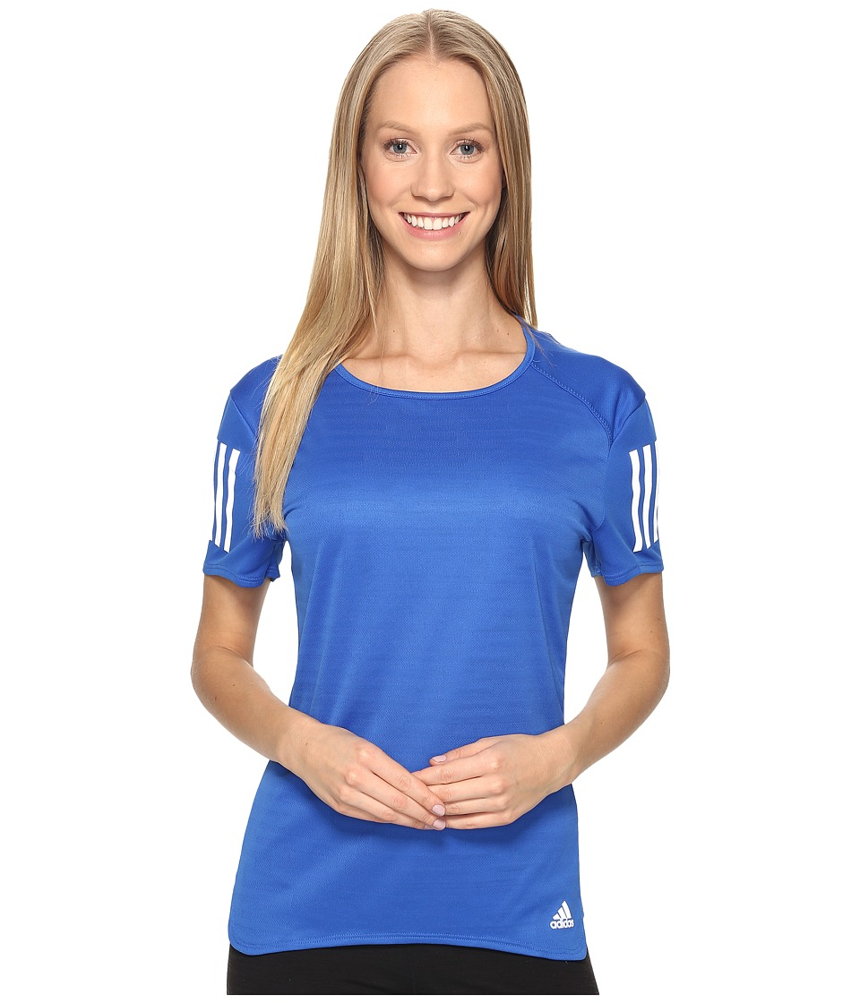 adidas - Response Short Sleeve Tee (Blue) Women's Short Sleeve Pullover