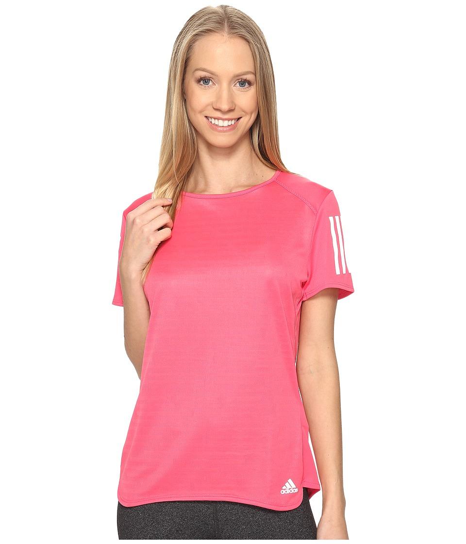 adidas - Response Short Sleeve Tee (Super Pink F15) Women's Short Sleeve Pullover