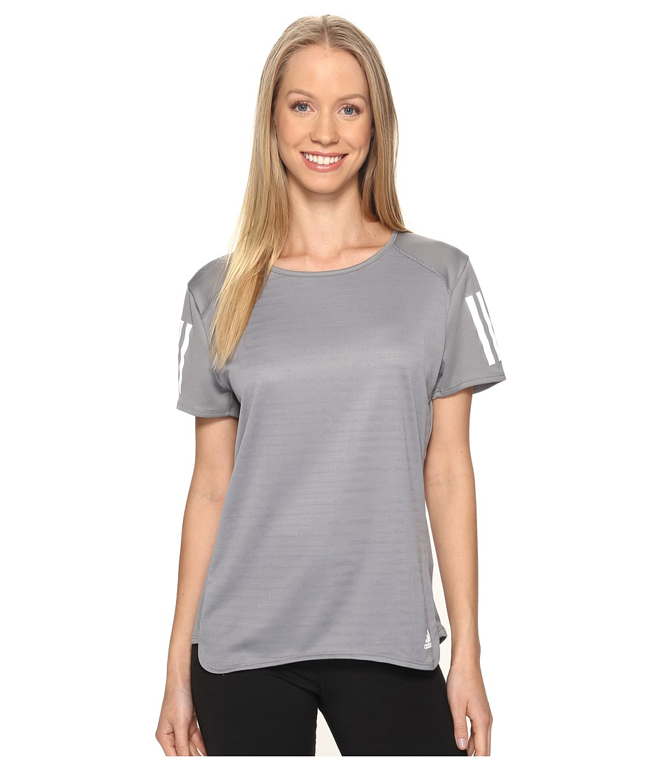 adidas - Response Short Sleeve Tee (Grey) Women's Short Sleeve Pullover