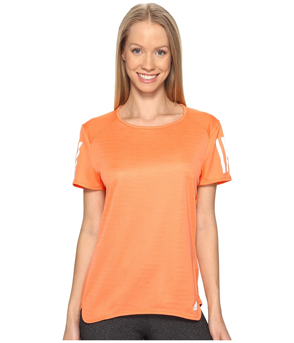 adidas - Response Short Sleeve Tee (Easy Orange S17) Women's Short Sleeve Pullover