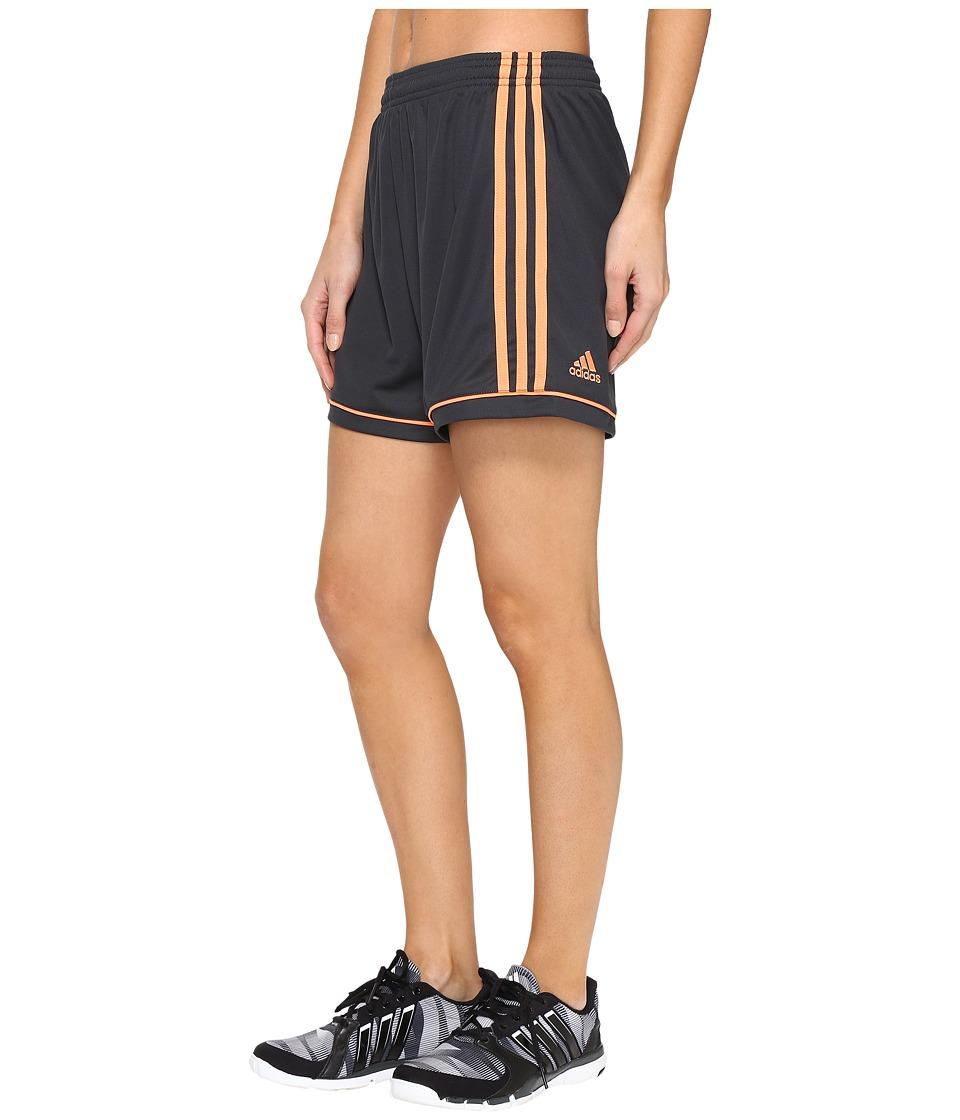 adidas - Squadra 17 Shorts (Dark Grey/Easy Orange S17) Women's Shorts