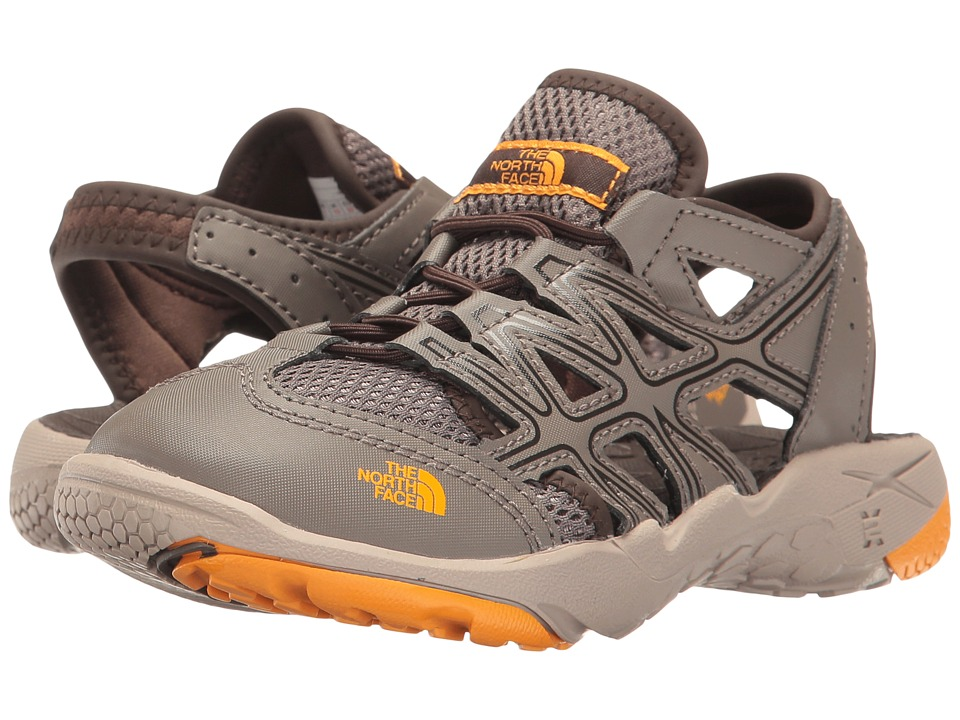 The North Face Kids - Hedgehog Sandal II (Toddler/Little Kid/Big Kid) (Falcon Brown/Zinnia Orange) Boys Shoes