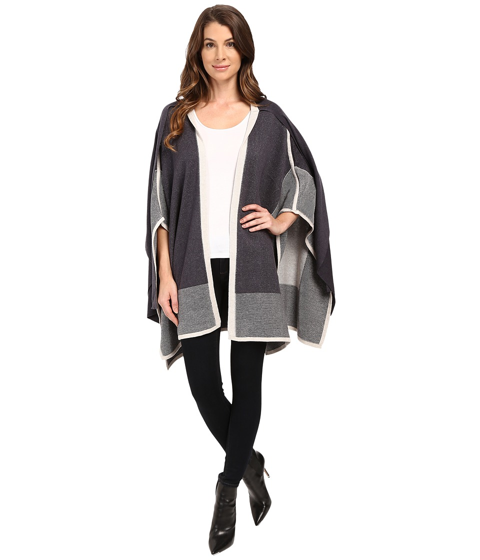 NIC+ZOE - Textured Eclipse Cape (Multi) Women's Sweater