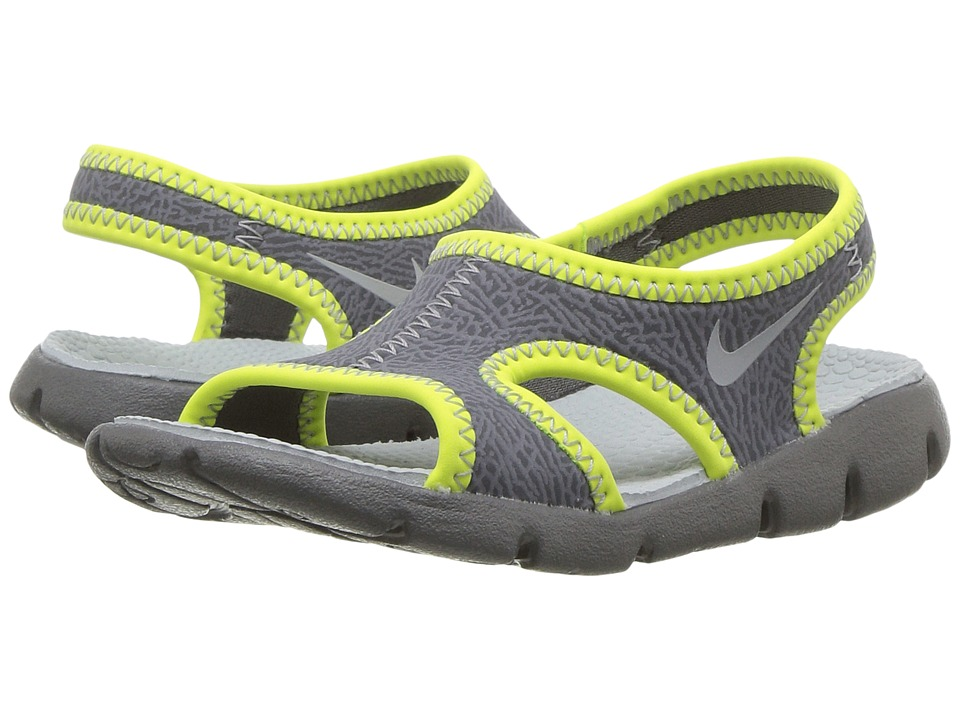 Nike Kids - Sunray 9 (Infant/Toddler) (Dark Grey/Wolf Grey/Volt) Boys Shoes