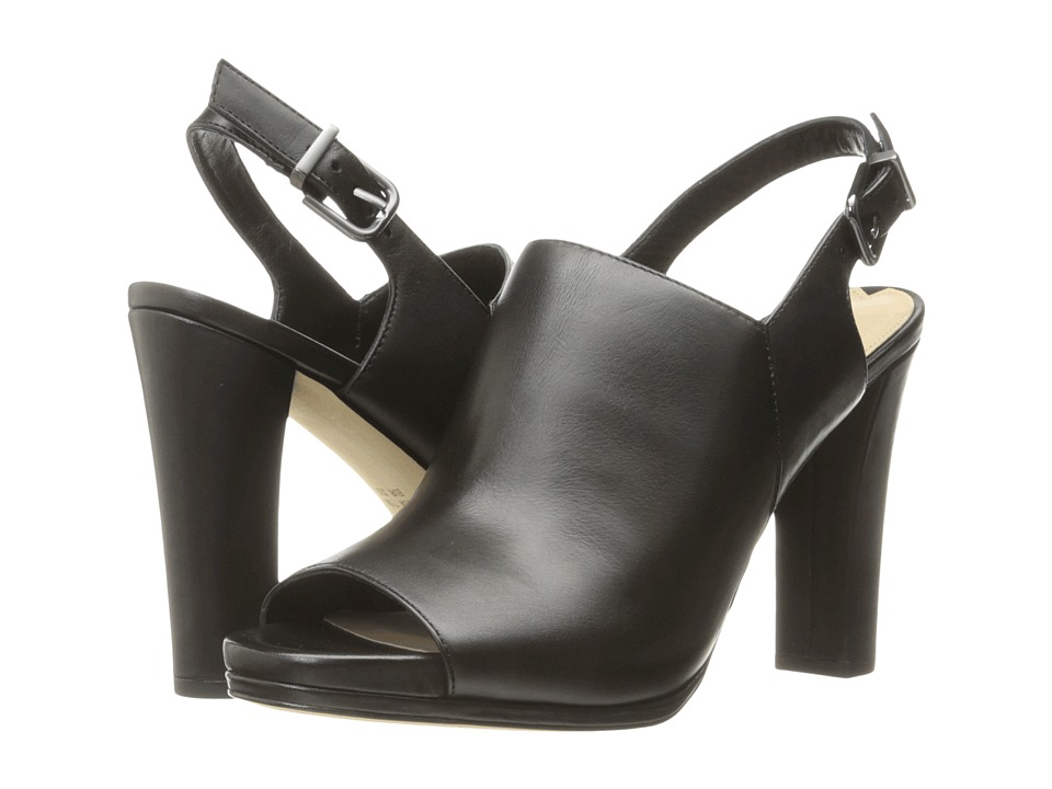 Via Spiga Cara (Black Harvard Calf Leather) High Heels