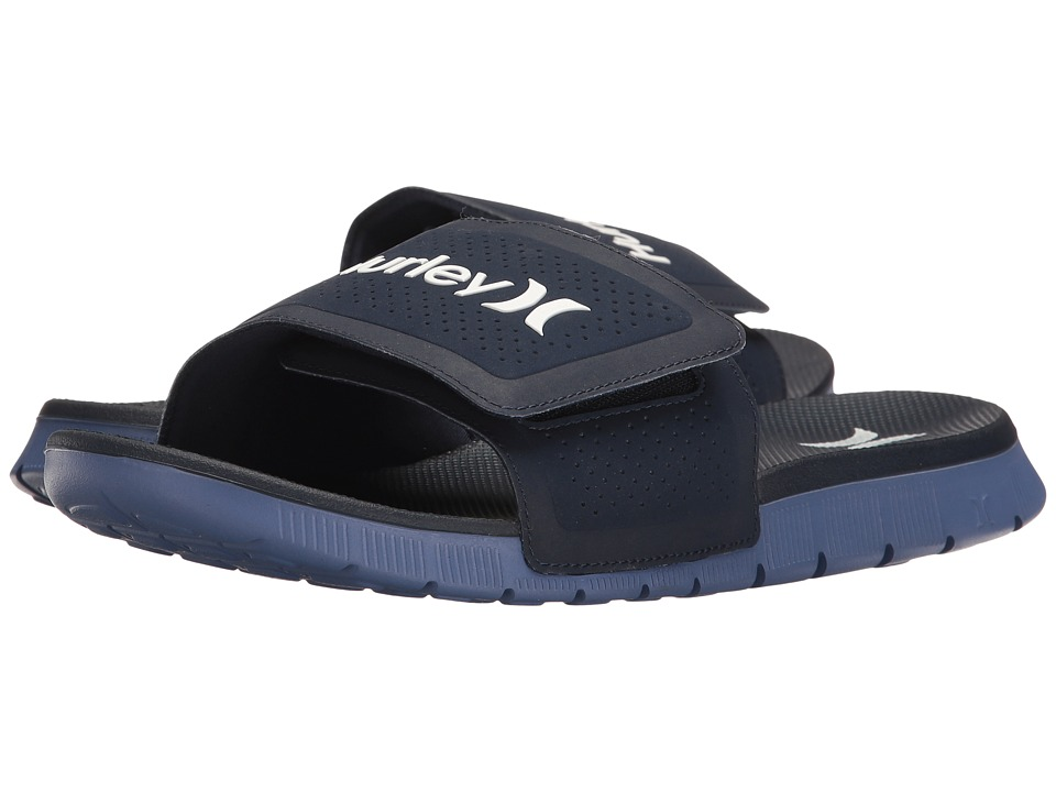 Hurley - Fusion Suede Slide (Obsidian) Men's Sandals