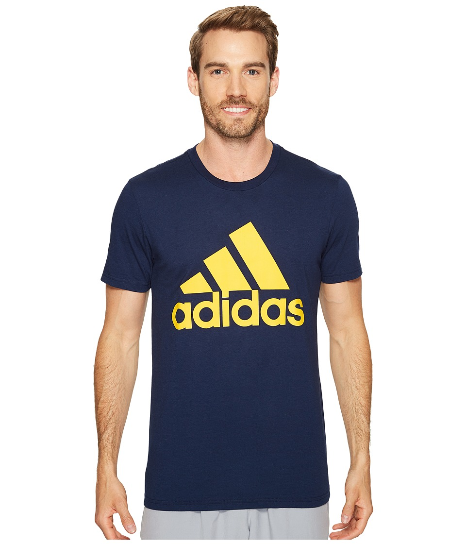 adidas - Badge of Sport Classic Tee (Collegiate Navy/Collegiate Gold) Men's T Shirt