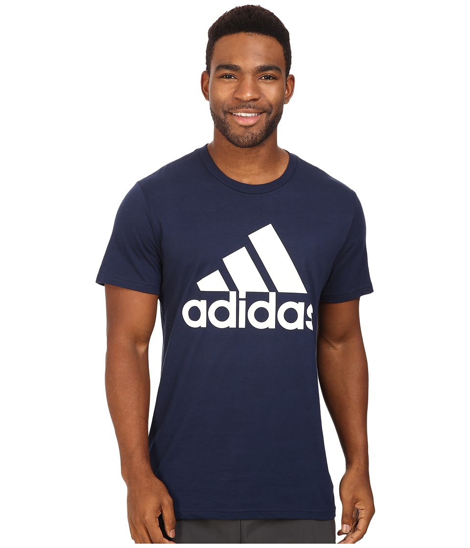 adidas - Badge of Sport Classic Tee (Collegiate Navy/White) Men's T Shirt