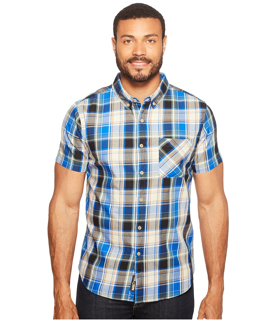 United By Blue - Short Sleeve Springer Plaid Shirt (Blue/Tan) Men's Clothing