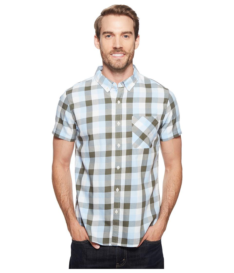 United By Blue - Short Sleeve Everett Plaid Shirt (Green/Blue) Men's Clothing