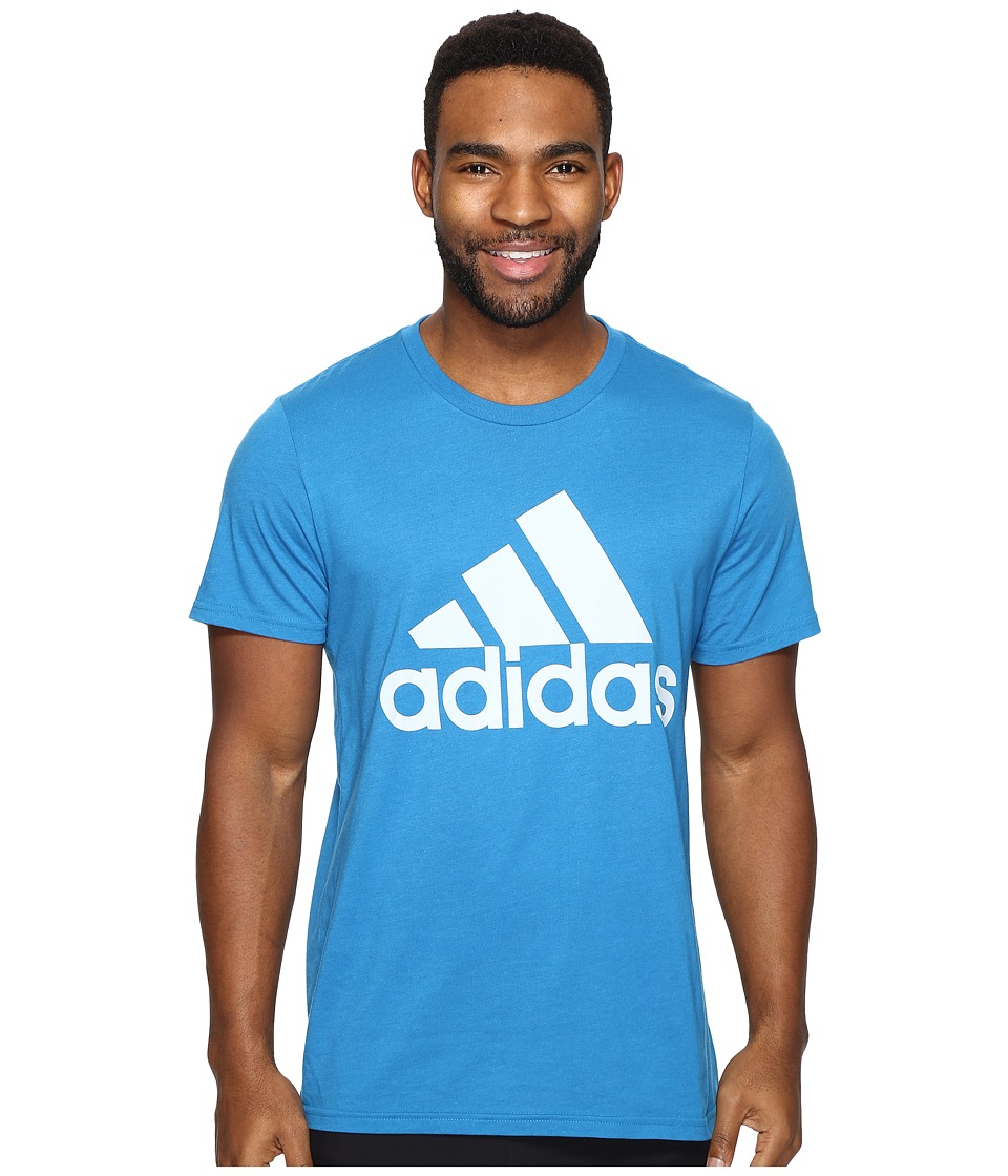 adidas - Badge of Sport Classic Tee (Unity Blue/Halo Blue) Men's T Shirt