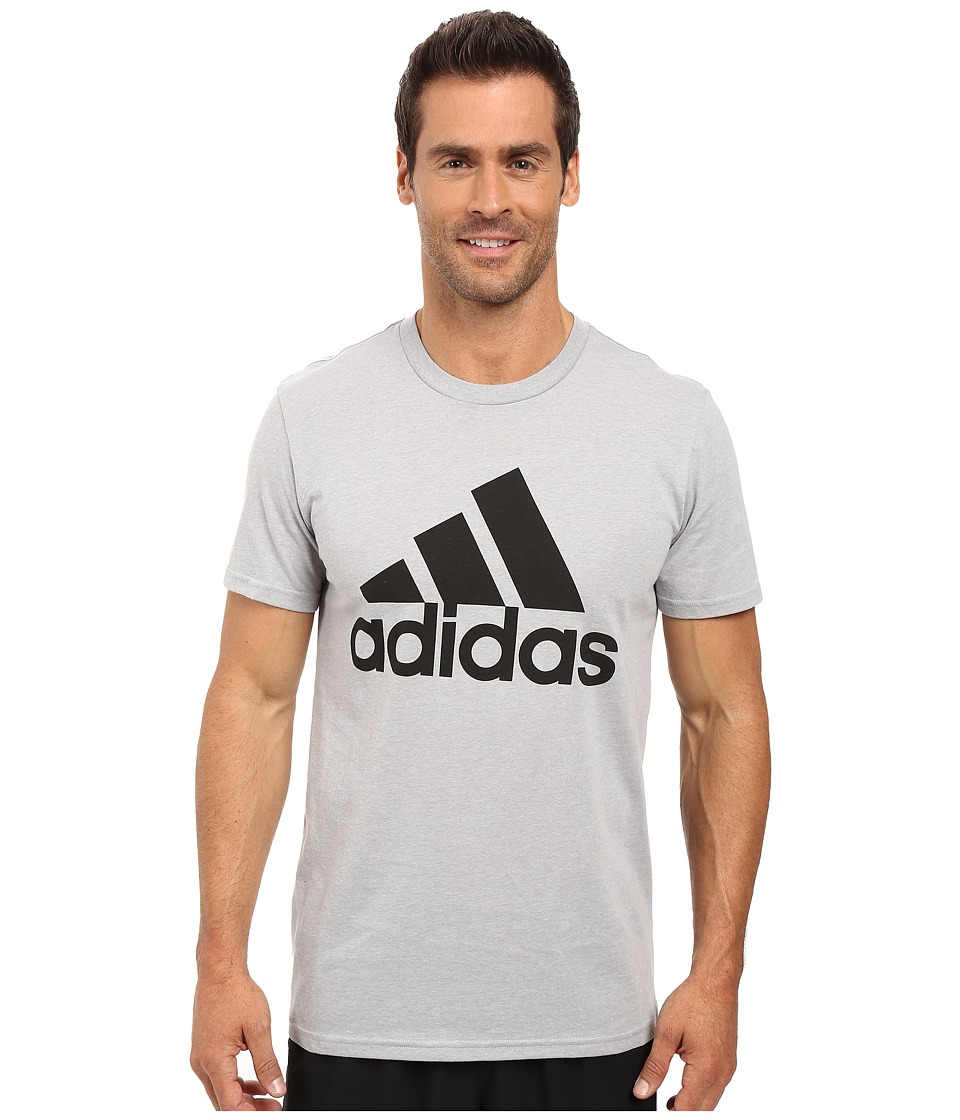 adidas - Badge of Sport Classic Tee (Medium Grey Heather/Black) Men's T Shirt