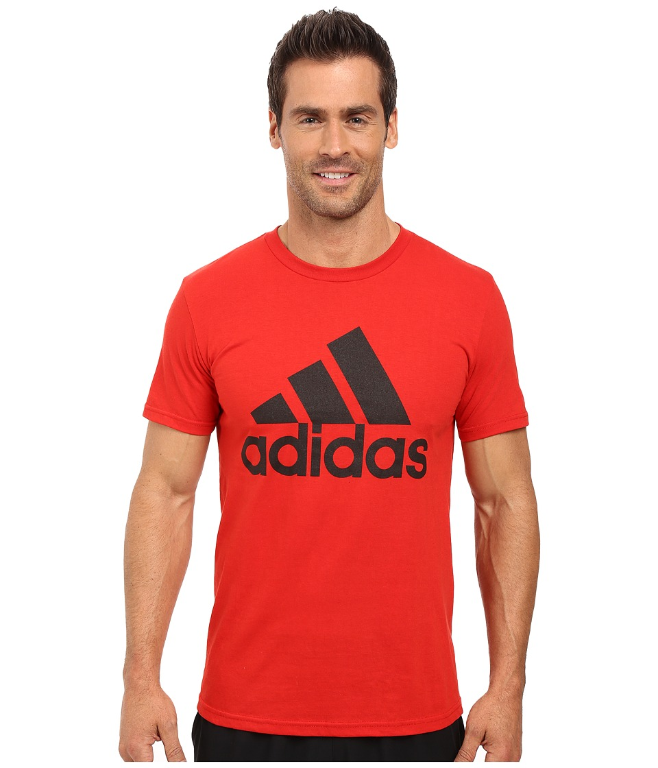 adidas - Badge of Sport Classic Tee (Scarlet/Black) Men's T Shirt