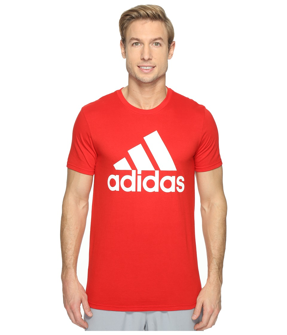 adidas - Badge of Sport Classic Tee (Scarlet/White) Men