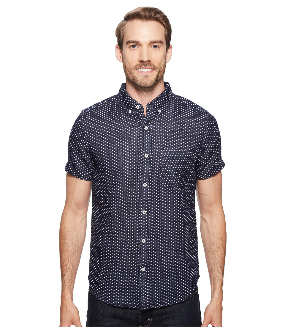 United By Blue - Short Sleeve Bromley Dot Shirt (Navy) Men's Clothing