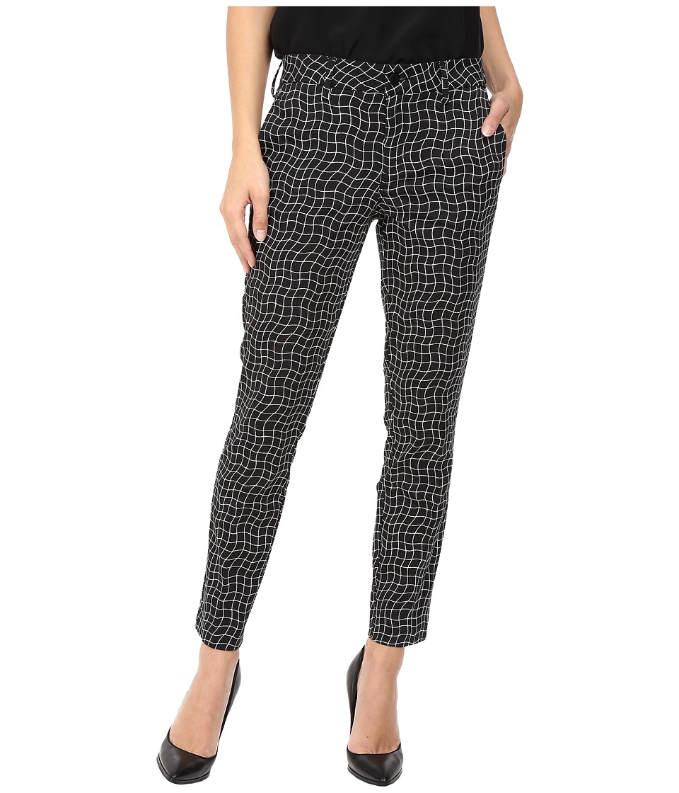 Level 99 - Rose Slim Trousers (Black Chess) Women's Casual Pants