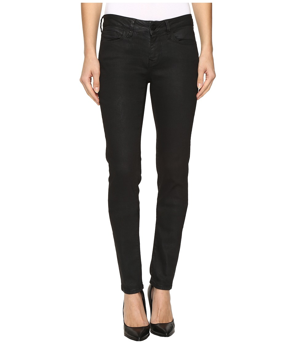 Mavi Jeans - Adriana Mid-Rise Super Skinny in Black Coated Gold (Black Coated/Gold) Women's Jeans